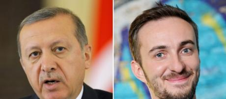 Erdogan, Presidente turco, y Böhmermann, un cómico que le parodió.