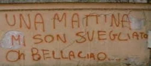 Incisione su un muro di Arezzo