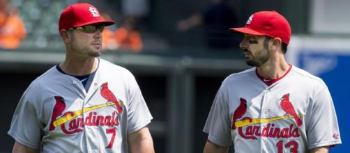 Matt Holliday and Matt Carpenter of the St. Louis Cardinals [image via Flickr/Keith Allison]