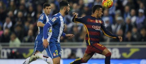 Neymar Jr en el partido de Copa del Rey frente al Español