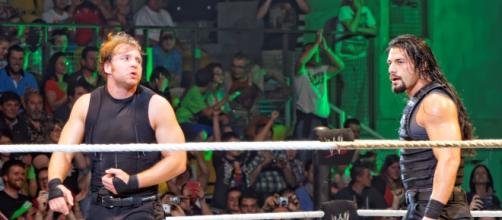 Roman Reigns, Dean Ambrose of the WWE [image via Flickr/Miguel Discart]