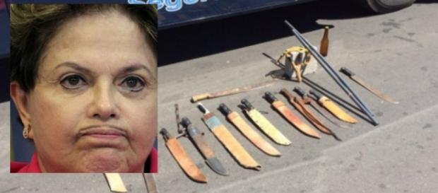 Armas são apreendidas antes de ato a favor de Dilma