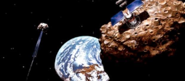 Asteroid mining (Credit: NASA)
