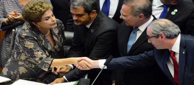 Cunha e Dilma: rota de colisão