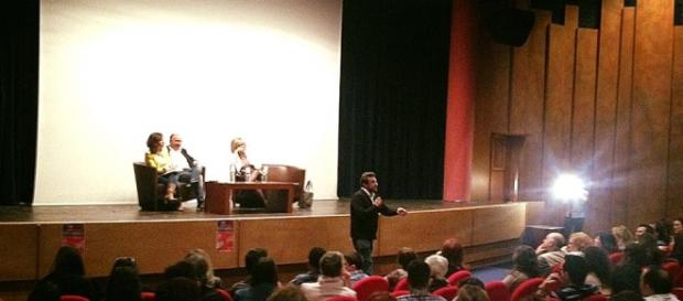 Flavio Insinna, ospite dell'Università di Salerno.