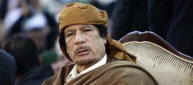 Nella foto: il defunto leader libico Gheddafi