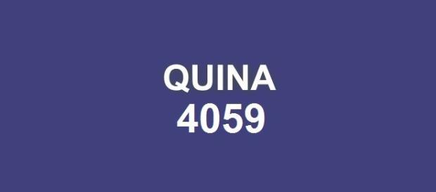 Quina 4059; Sorteio realizado em São Paulo.