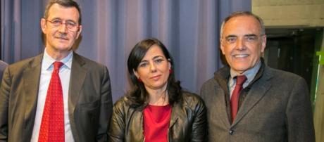Da sinistra: Dario Troiano, Antonella Frontani e Alberto Barbera