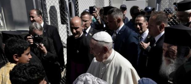 Foto de la llegada del Papa Francisco