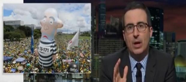 John fez piada da situação política vivida no Brasil