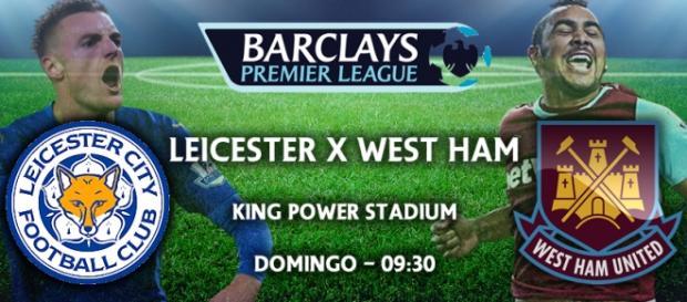 Leicester x West Ham em Tempo Real.