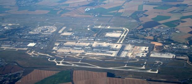 Vista aérea del aeropuerto francés