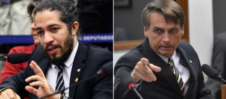 Jean Wyllys e Jair Bolsonaro: dois desafetos