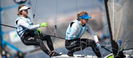 Sol Branz y Victoria Travascio finalizaron en el cuarto lugar del Europeo 49erFX