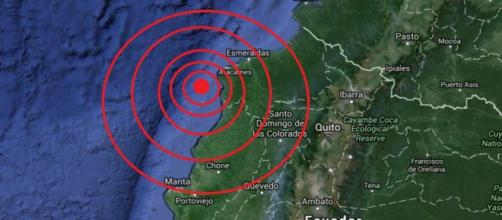 Terremoto registrado en Ecuador, en el Océano Pacífico