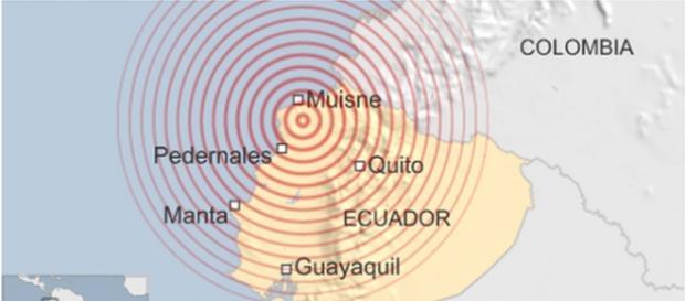 Foto de toda la zona que ha ocupado el terremoto