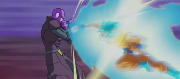 La famosa batalla de Hit contra Goku el Dios Super Saiyajin