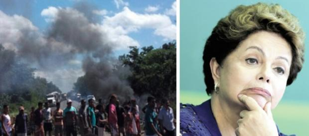 Manifestantes pró-Dilma fecham rodovias