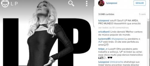 Luiza Possi pode ser a próxima capa da revista Playboy