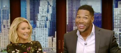 Screen capture of Kelly Ripa and Michael Strahan. LIVE with Kelly and Michael TV Show/Youtube