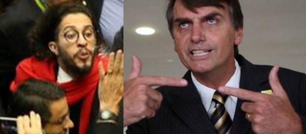 Jean e Bolsonaro - Foto/Montageem