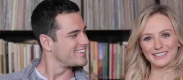 Lauren Bushnell and Ben Higgins from a YouTube interview