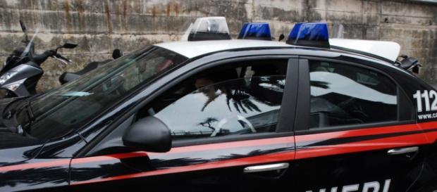 Volante dei Carabinieri in azione