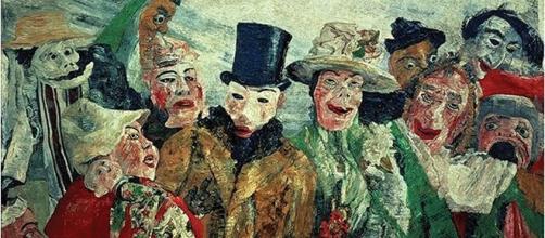 """""""A Intriga"""", de James Ensor (1890) - Fantasmagorias que nos assombram depois do assombroso golpe televisionado"""