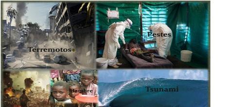 Guerras, pestes, hambres, terremotos y tsunamis