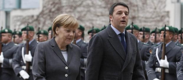 Angela Merkel e Matteo Renzi, contrasti sulla proposta Eurobond