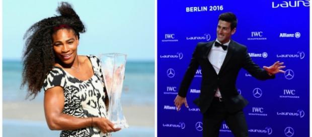 El serbio Novak Djokovic y la estadounidense Serena Williams recibieron el premio Laureus