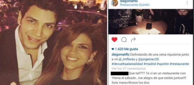 Ylenia y Diego Matamoros, pillados en un restaurante madrileño