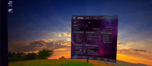 Foto del programa usado dentro de la VR