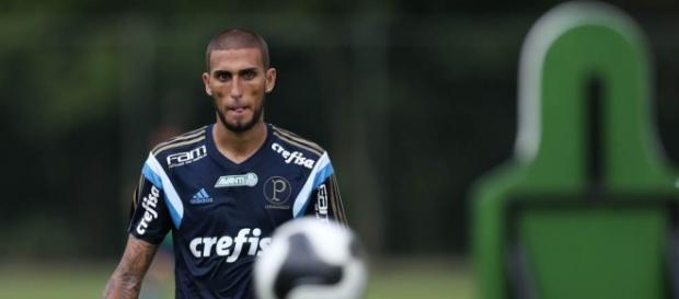 Rafael Marques em treino do Palmeiras