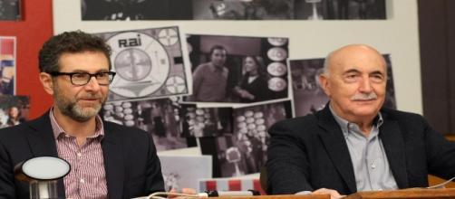 """Fabio Fazio e Ludovico Peregrini, autore di """"Rischiatutto"""""""