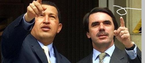 José María Aznar y Hugo Chávez cuando había buena sintonía.