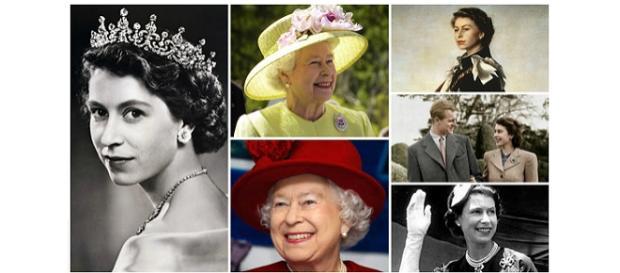 Colaj foto: Regina Elisabeta a II-a a Marii Britanii