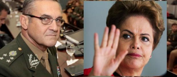 Comandante do exército e Dilma - Foto/Montagem