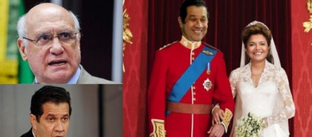 Senador manda Lupi casar com Dilma - Foto/Montagem