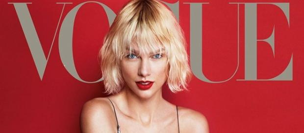 Taylo Swift con en la revista Vogue con su nuevo look