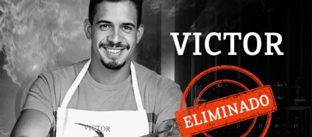 Victor queimou o molho e desagradou os chefs com seu prato (Reprodução/Facebook)