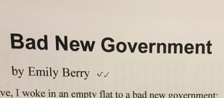 Bad New Government de Emily Berry