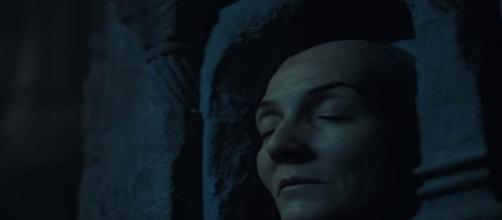 La cara Catelyn Stark en la Casa de Blanco y Negro