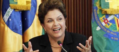 Presidente Dilma Rousseff, atualmente passando pelo processo de impeachment.