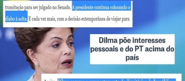 Editorial e O Globo detona presidente