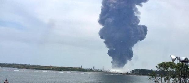 Explosión en Pemex Coatzacoalcos