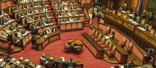 Il Senato, teatro del voto delle mozioni di sfiducia