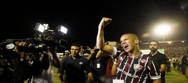 Marcos Júnior, autor do gol do título do Fluminense