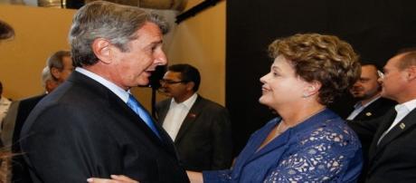 Fernando Collor de Mello e Dilma Rousseff