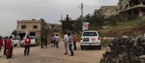Entregas de alimentos y medicamentos en Siria